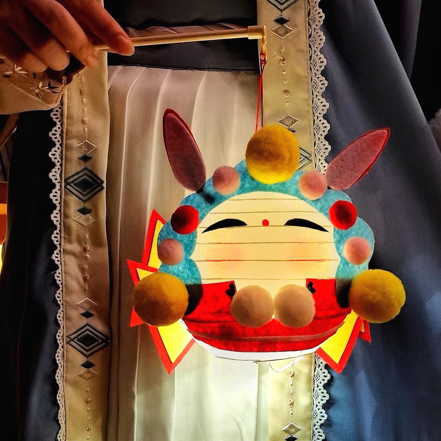 中秋节灯笼diy diy灯笼材料包 创意手工灯笼 中国风汉服手提灯笼