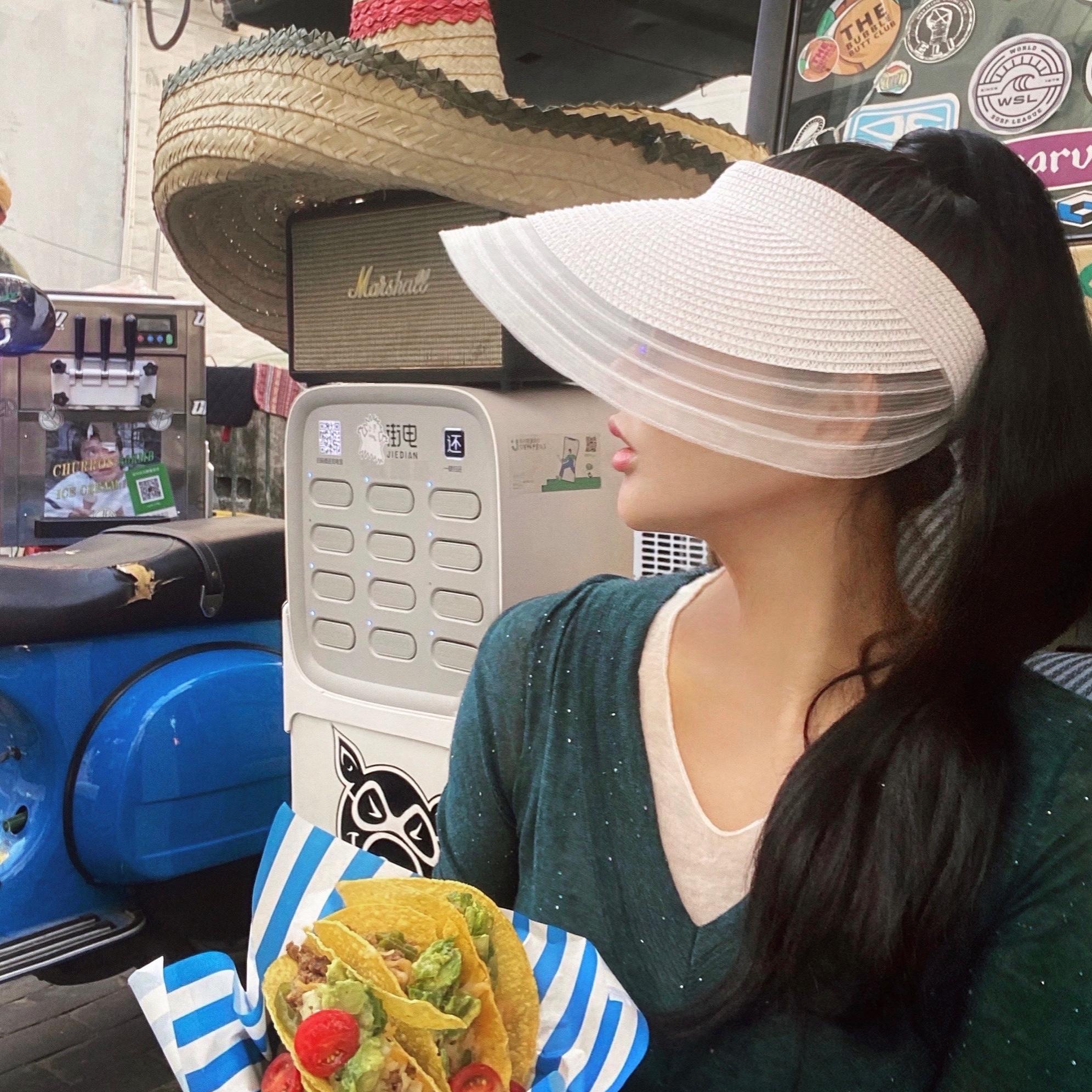 BettyChow美颜神器!修脸型的防晒太阳帽黑白2色女式户外遮阳帽