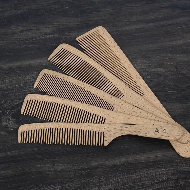 。2018新款梨花木梳子男士剪发理发平头梳发型师梳子薄美发师专用