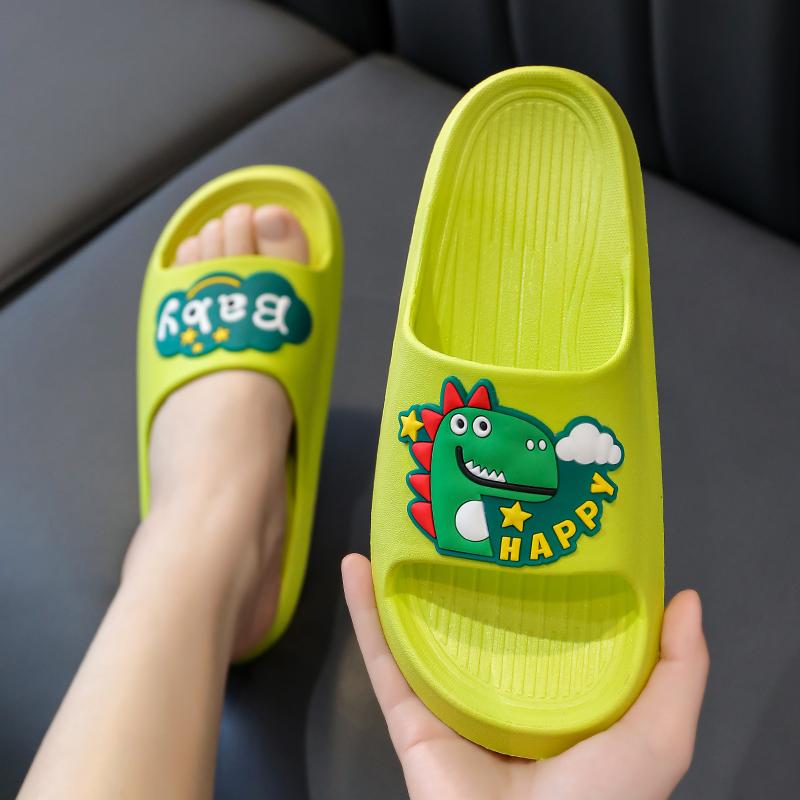 儿童拖鞋男夏季一体成型男童宝宝恐龙防滑一字拖女童男孩亲子凉拖