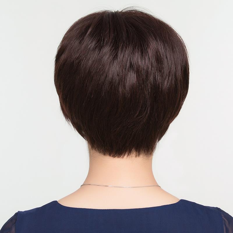 女士短款流行色短发公主整顶直发片假发女假发套发型真发全头套式