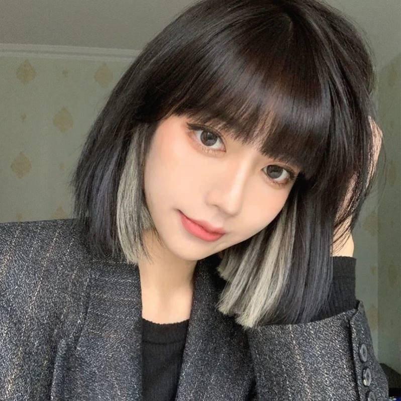 时尚卷发少女圆脸2021年流行仿真假发短发发型中老年修脸刘G海整