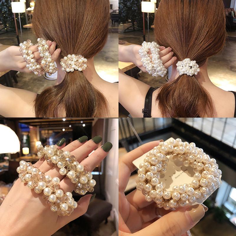 韩国发绳珍珠发圈甜美头饰森系头绳少女网红风橡皮筋扎头发饰