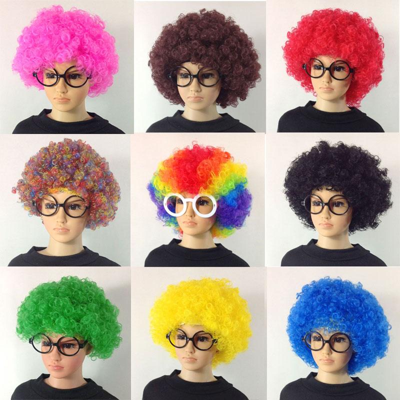 爆炸头假发搞怪小丑头套演出搞笑道具彩色假发套幼儿园表演区材料
