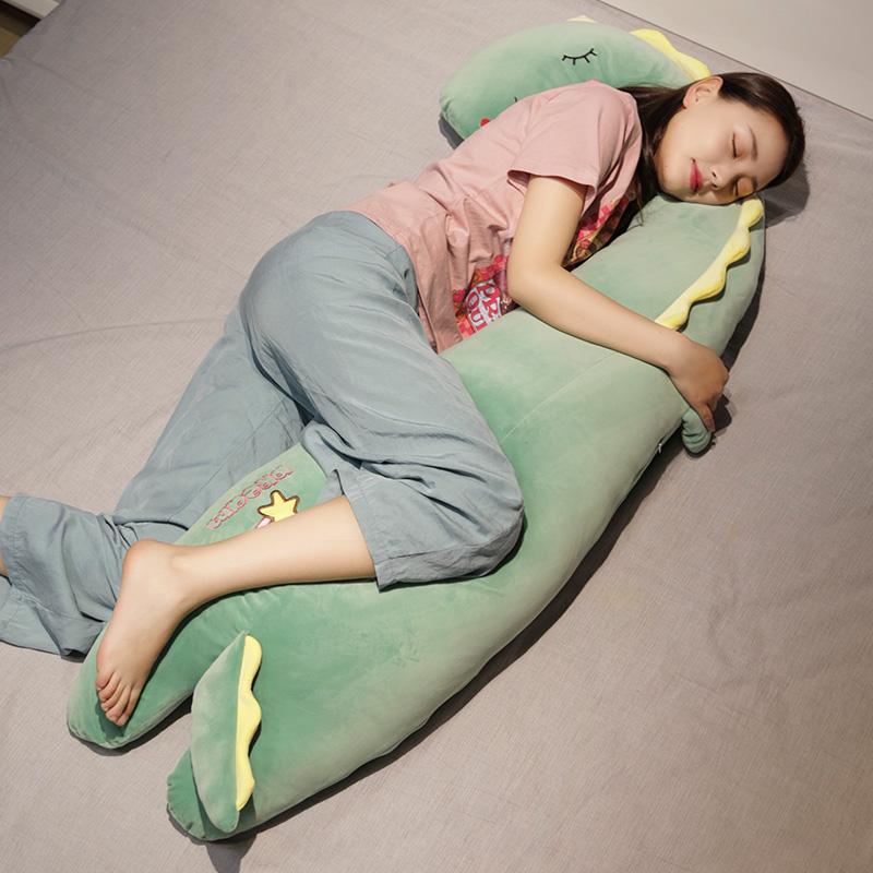 恐龙抱枕公仔女生睡觉抱玩偶床上男夹腿长条独角兽大毛绒玩具娃娃