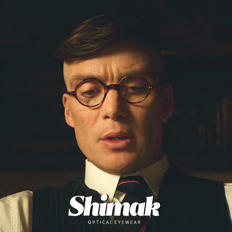 谢尔比同款眼镜浴血黑帮复古圆形手工板材近视眼镜框日系有度数男