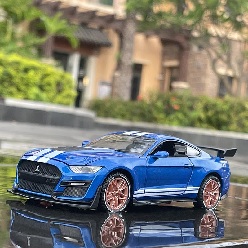 仿真1/32福特野马谢尔比GT500模型车男孩合金回力男孩玩具车礼品