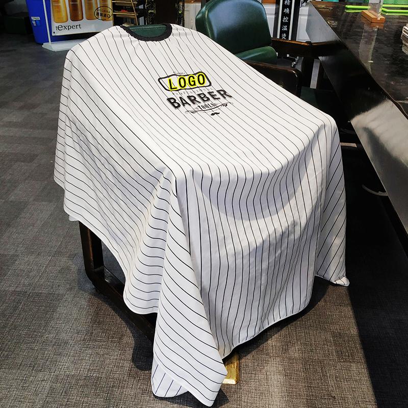 高档理发围布发廊专用防静电不粘发发型师专业剪发复古油头围布