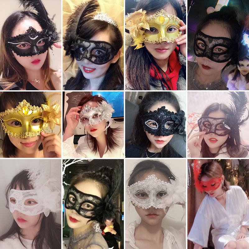 万圣节化妆假面舞会性感半面妆女半脸情趣公主古风威尼斯美女面具