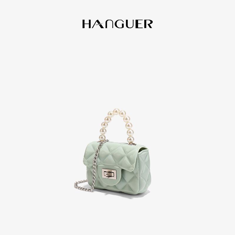 HANGUER&CK 可爱小清新 美女出街 淡色系 透明果冻包 口红零钱包