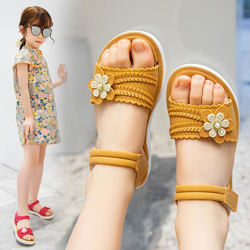 女童凉鞋潮网红小女孩公主鞋夏季学生凉鞋防水时尚软底凉拖鞋防滑