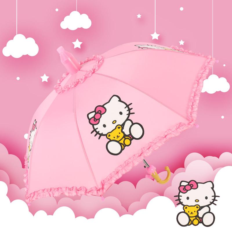 可爱儿童雨伞小学生女男自动幼儿园小孩童公主宝宝超轻儿童晴雨伞