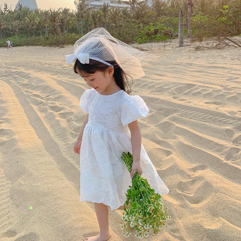 蓝小爸童装2021夏装新款女童连衣裙儿童宝宝韩版公主裙夏季裙子潮