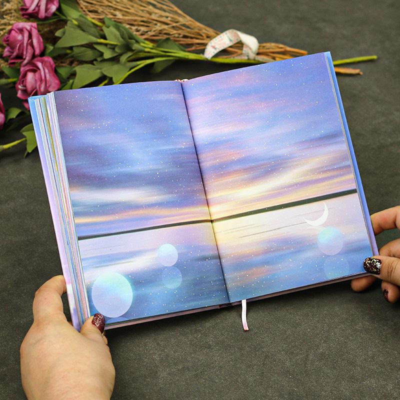 想见你 彩页手账本插画笔记本子日系可爱日记本少女心简约ins风厚