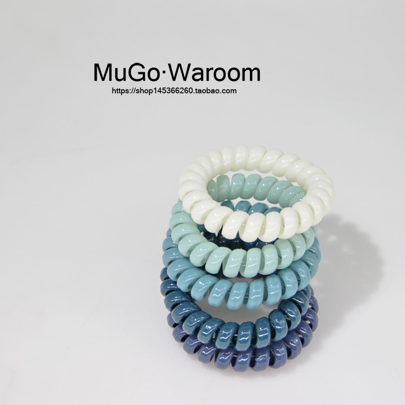 MuGo韩国流行色一组5个简约ins风电话线发圈超仙网红扎马尾发绳