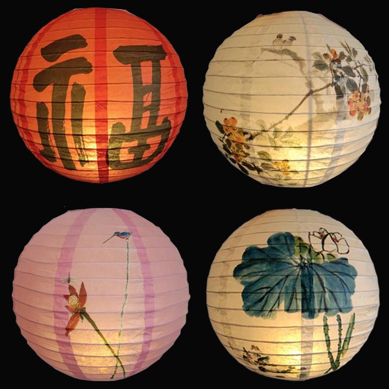 古风纸灯灯笼装饰中秋日式挂饰红灯笼道具中国风手提花灯汉服拍照