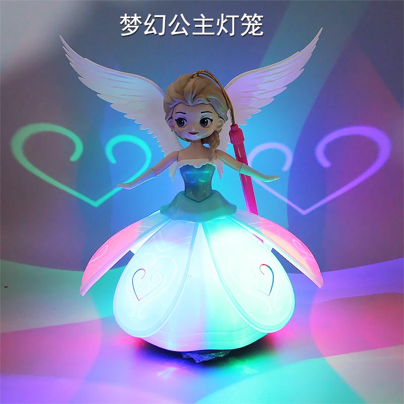童话公主艾莎白雪元宵中秋节新年花灯手提卡通充电灯笼苏菲亚玩具