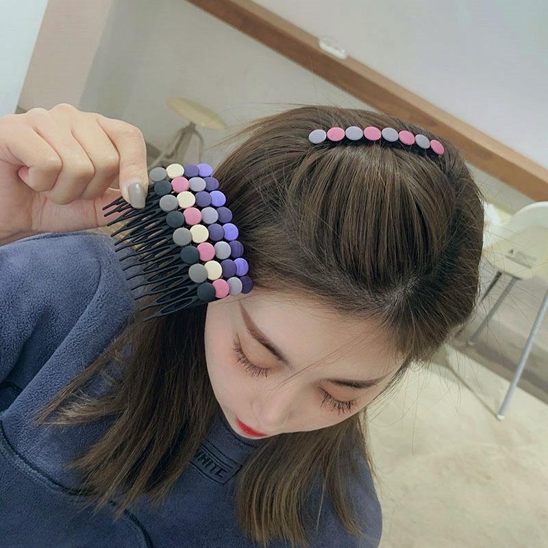 发梳发饰韩国碎发夹发卡子刘海梳盘发插梳倒插头饰品短发叉防滑女