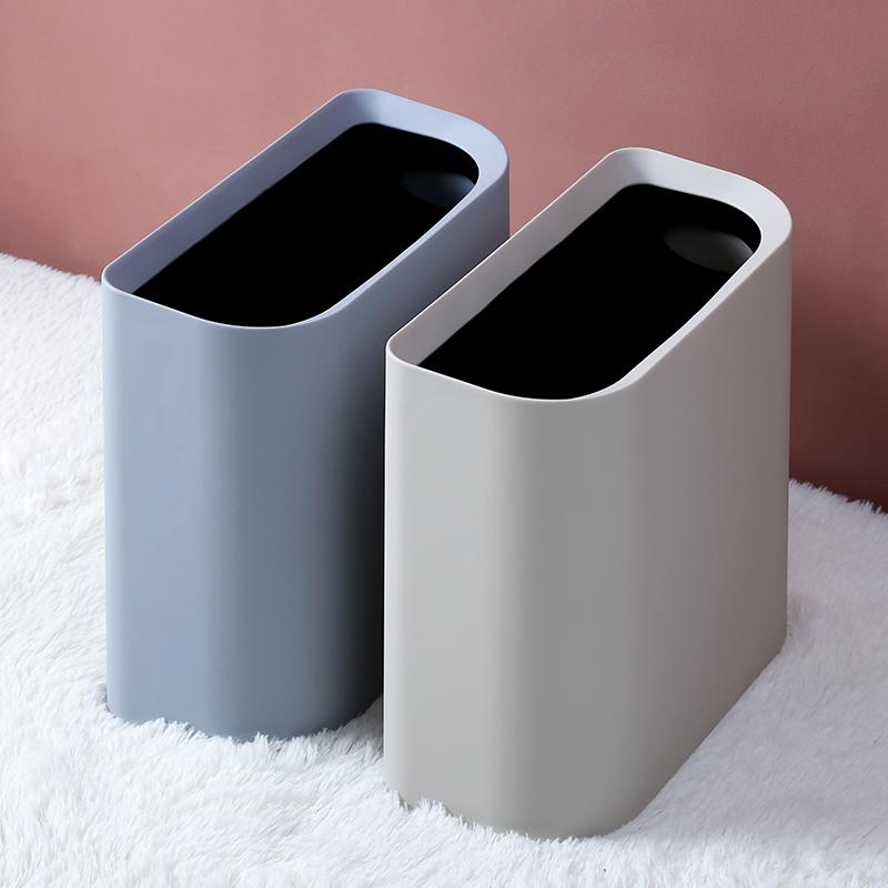 夹缝垃圾桶分类家用北欧卫生间客厅窄缝厕所创意无盖长方形拉圾桶