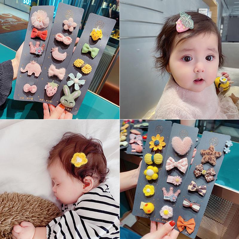 黄小妞婴儿发夹手缝汗毛夹可爱发量少宝宝不伤发发卡公主头饰发饰