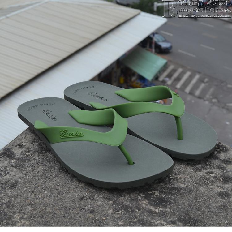 新款意大利古车正品男人字拖鞋 大码 防滑 夏季 男沙滩鞋男鞋凉鞋
