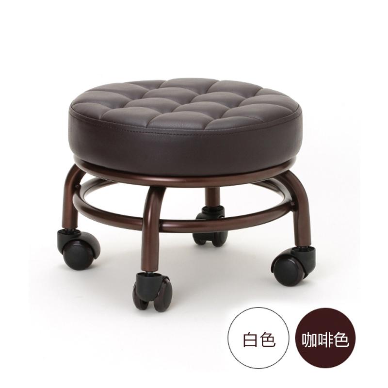 新品脚凳移动凳带轮矮凳子滑轮凳美容美发凳浴足万向轮凳子28499.