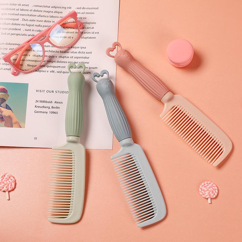 网红可爱梳子卡通少女美发梳子女童仙女梳便携式长发顺发防静电梳