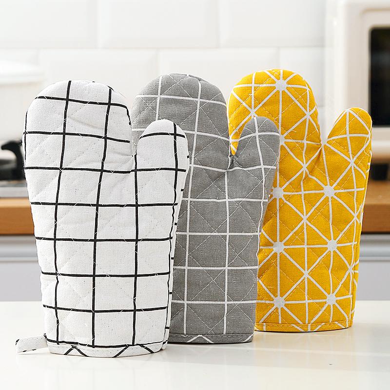 家用隔热手套烤箱烘焙防烫隔热耐高温厨房蒸箱铁锅微波炉专用手套