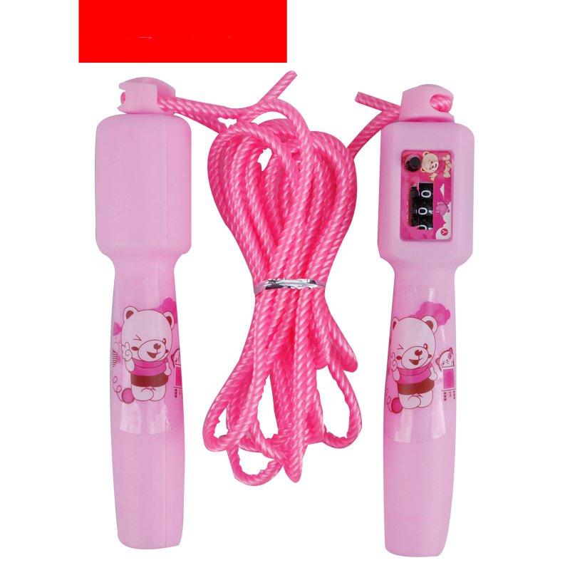 儿童跳绳小学生体育用品文体小孩可调节计数女童跳绳单人