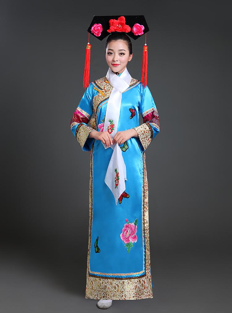 清朝古装女古代公主满族宫廷贵妃娘娘旗袍装妃子学生还珠格格服装