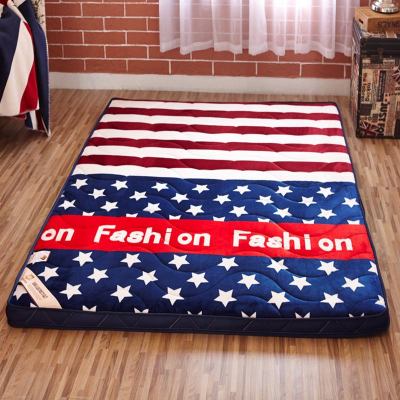 2018宽1.8m长2米海绵床垫软硬两用加厚高密双人夏天零压床垫子清