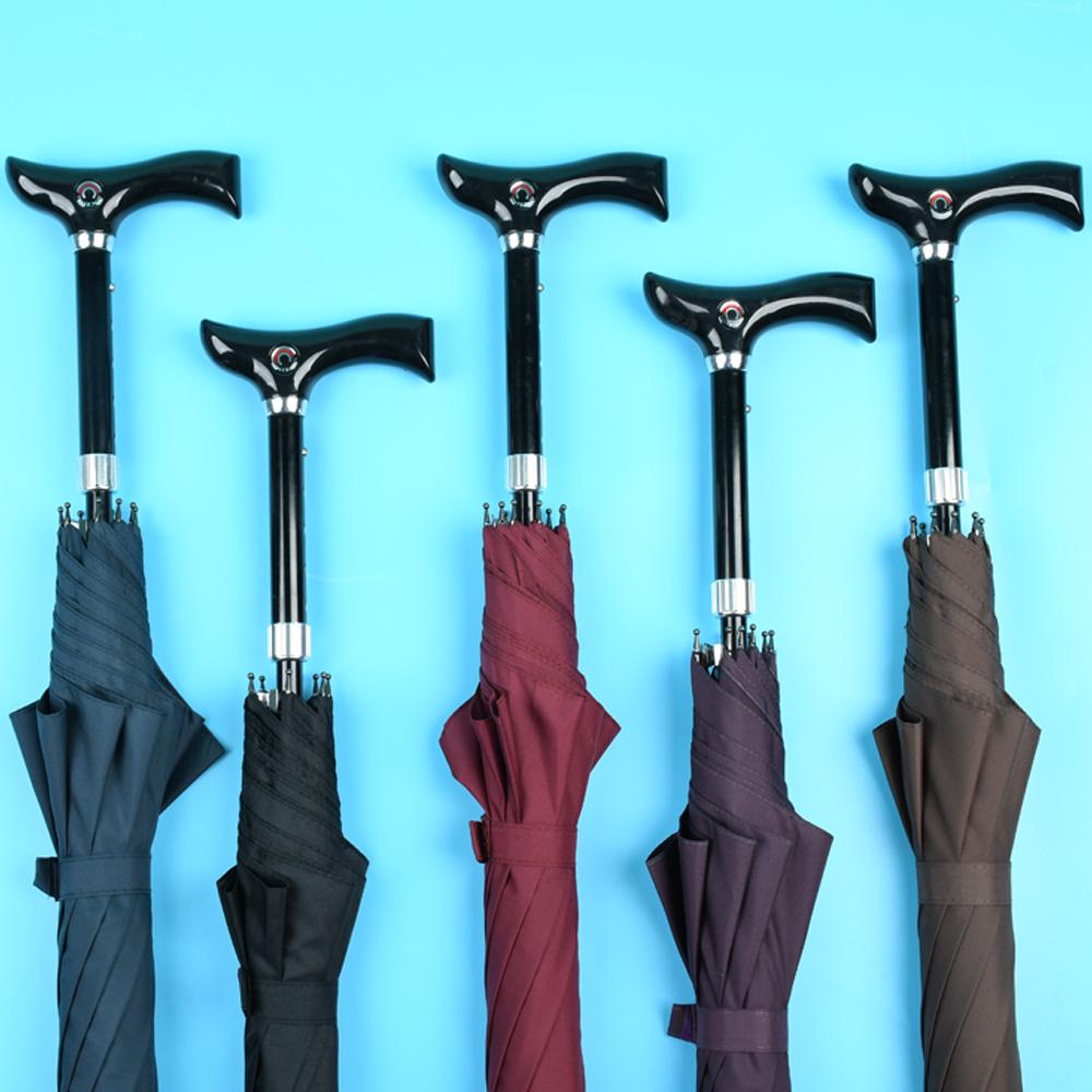 可调节老人拐杖伞大长柄手杖礼品伞多功能防滑登山雨伞结实拐扙伞