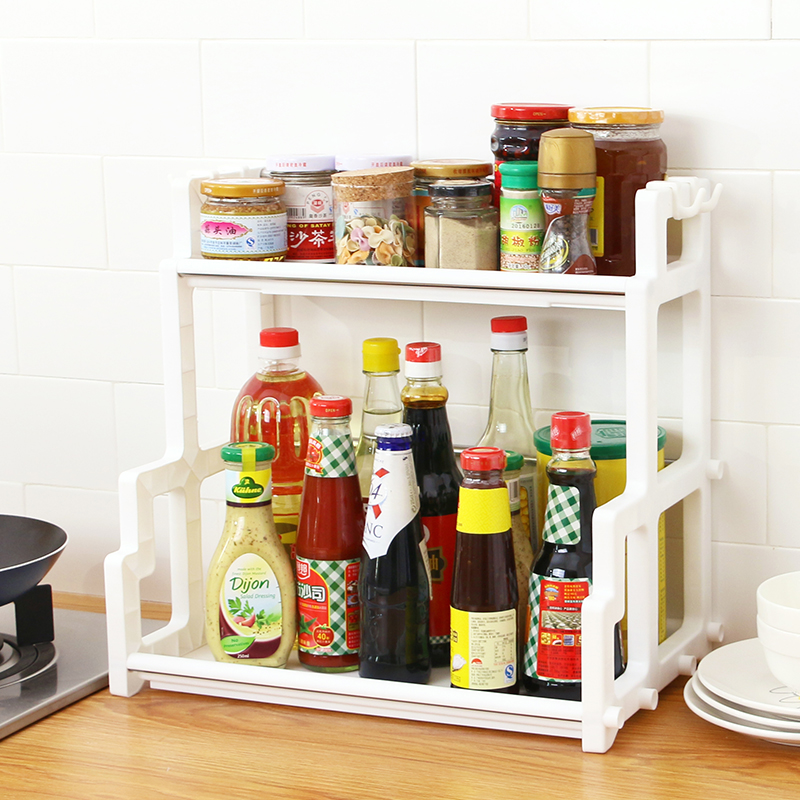 厨房置物架瓶家用放油盐酱醋架子佐料作料罐收纳用品整理架调味料图片