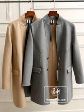 CZW204 Spain a small amount of good goods! Men's fashion Slim double-sided Niwama coat coat tide