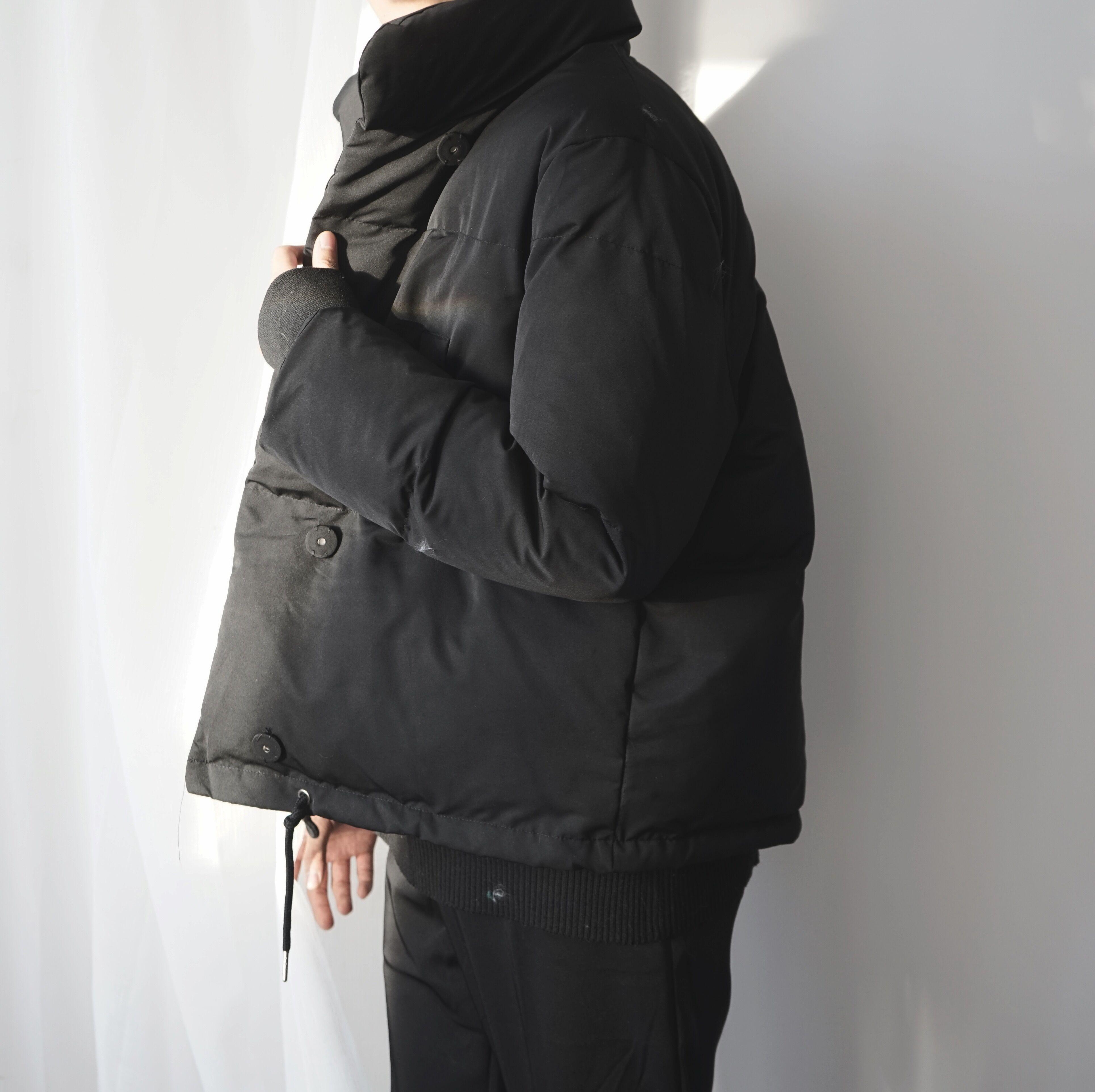 阿茶与阿古加厚保暖黑色韩版简约时髦学院复古棉服棉衣