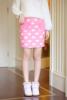 嫩黄半身裙粉嫩大衣粉色