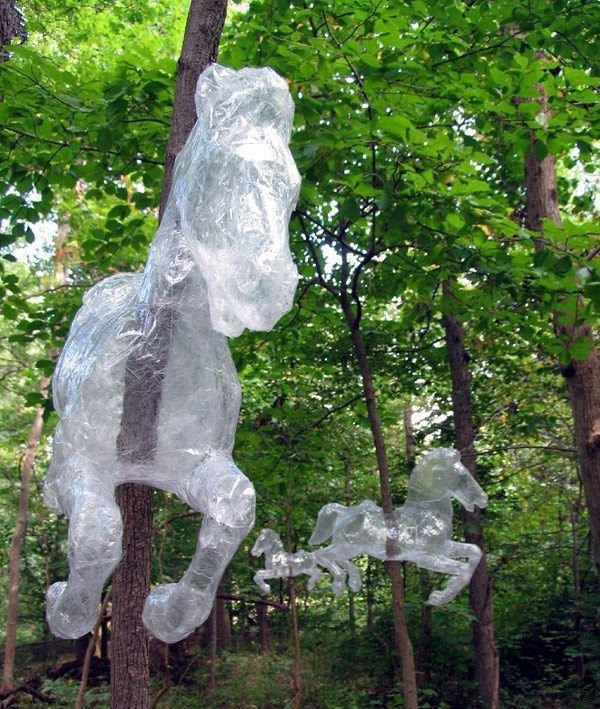 透明胶带手工di制作雕塑装置艺术