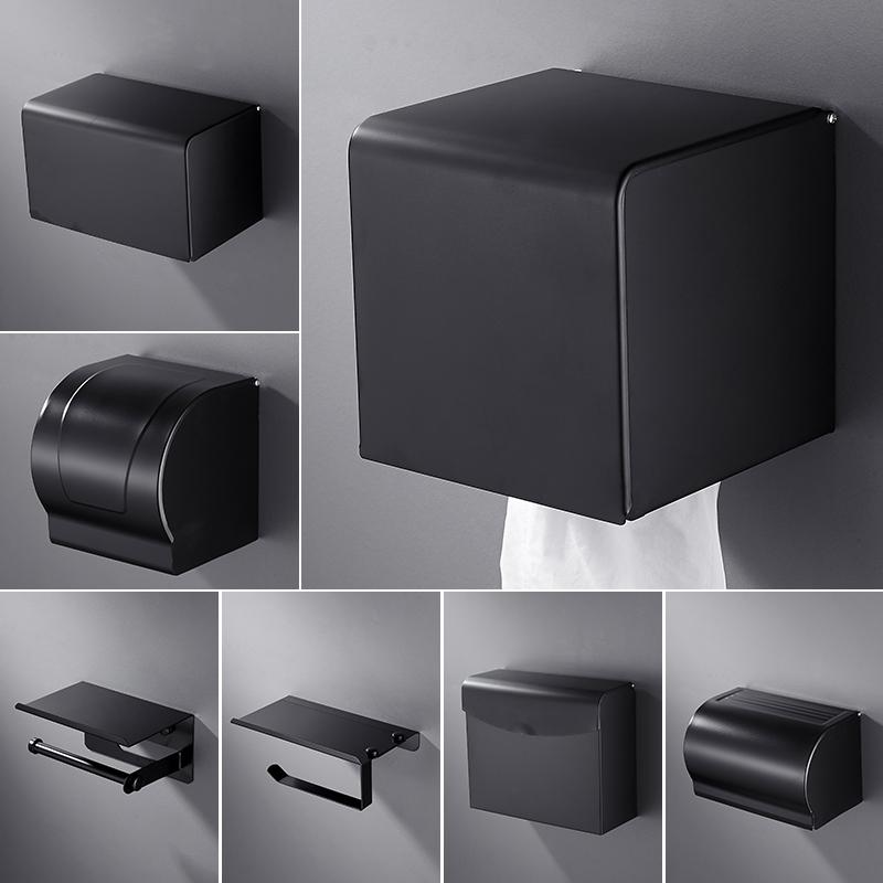 手纸盒卫生收纳抽手纸巾置物马桶小卷子架方大简约厕纸盒不锈钢
