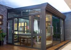 Chengdu high-end sun room broken bridge aluminum door and window laminated tempered glass glass sun room broken bridge aluminum window