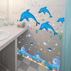 Wall stickers wallpaper wall paper self-adhesive bathroom toilet bathroom toilet decoration stickers wall stickers waterproof stickers