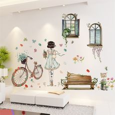 3D stereo wall sticker stickers bedroom girl room decoration wallpaper stickers bedside warm wall self-adhesive wallpaper