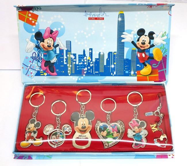 香港正版迪士尼钥匙扣套装旅游纪念品 迪士尼匙扣 特价包邮