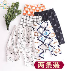 Summer two sets of baby pajamas cotton thin section pants children's air conditioning pants leggings boys and girls home pants