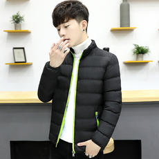 Cotton men's jacket 2018 winter new fashion short thick cotton suit Korean version of the trend handsome winter clothing