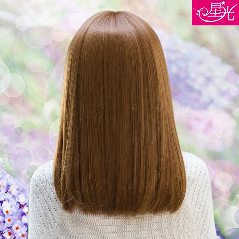假发 女 自然逼真假头发整顶假发女 中长直发短发长齐刘海假发套图片
