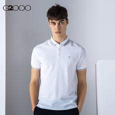 G2000 men's casual slim short sleeve POLO shirt 2018 spring and summer men's casual slim Polo shirt T-shirt