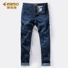Eidenburg stretch jeans men's autumn new Slim straight men's pants business casual youth tide men's pants