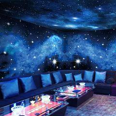 3d立体梦幻星空背景墙壁纸吊顶酒吧KTV包厢主题装饰墙纸网红墙布