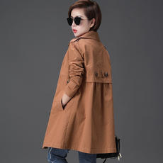 Autumn than autumn clothes female 2018 new Korean version of the coat female small man was thin in the long section large size autumn ladies windbreaker