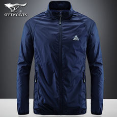 Seven wolves jacket men's jacket summer ultra-thin youth Korean version of the collar outdoor leisure sports breathable clothes